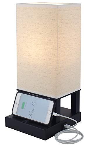 Kira Home Lucerna Ii 14 Modern Bedside Usb Table Lamp W