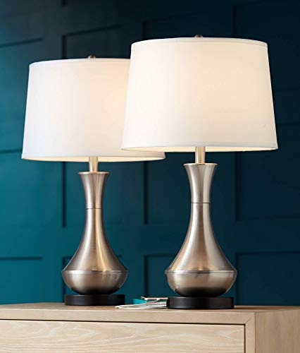simon modern table lamps set of 2 with hotel style usb