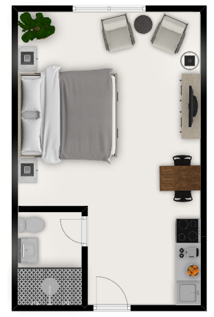 airbnb floor layout