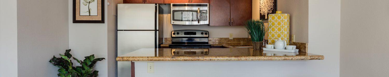 small airbnb kitchen