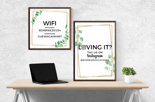 airbnb printable signs