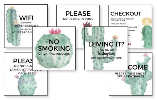 airbnb printables